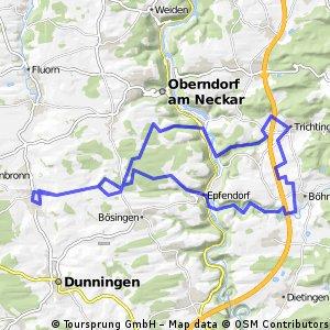 Schlichemklamm und Neckartal