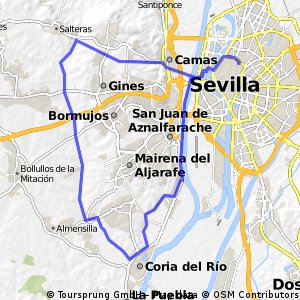 Sevilla-Coria-Rio Pudio-Salteras-Camas-Sevilla