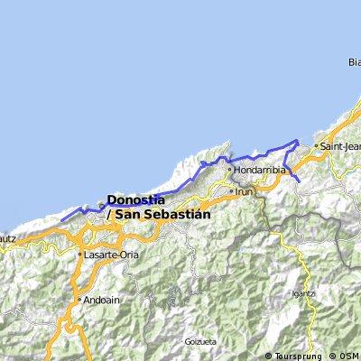 Tandems et cie Urrugne à San Sebastian
