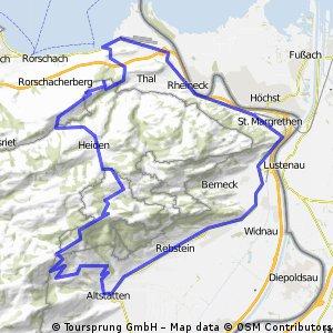 Staad-Heerbrugg-Altstätten-Ruppen-St.Anton-Heiden-Staad