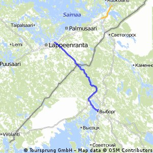 Cycling routes and bike maps in and around Lappeenranta Bikemap