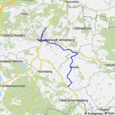 Elberadweg Etappe 1 Wittenberg - Merschwitz