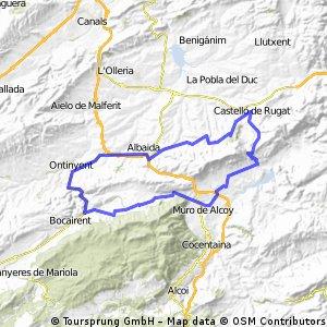 Castelló-Muro-Bocairent-Castelló