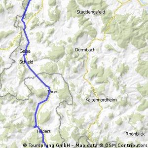 Röhntour erste Etappe
