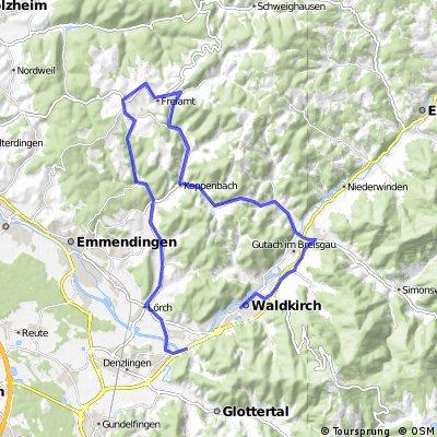 Waldkirch-Sexau-Tennenbach-Mußbach-Gscheid-Waldkirch