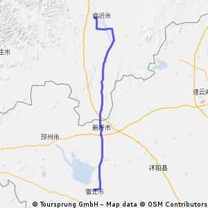 Cycling Routes And Bike Maps In And Around Linyi Bikemap Your - Linyi map