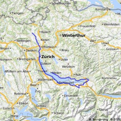 Neerach - ZH See & Obersee bis Meilen