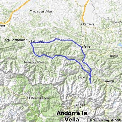 Rimont - Foix - Plateau de Beille - Col de Port - St. Girons - Rimont