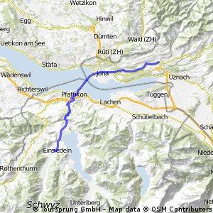 Jokobsweg - Neuhaus - Rapperswil - St. Meinrad - Einsiedel