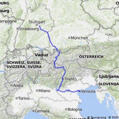 Stuttgart - Venedig
