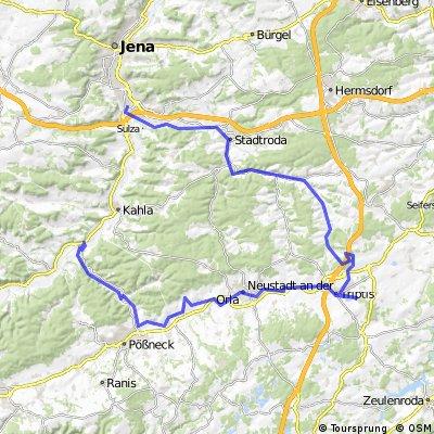 Orla-Roda-Radtour