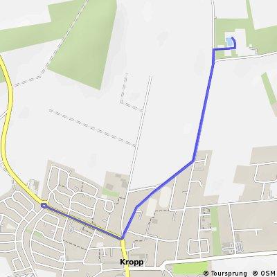 Kropp-Triathlon Kinder- und Schüler-Radstrecke 5 km