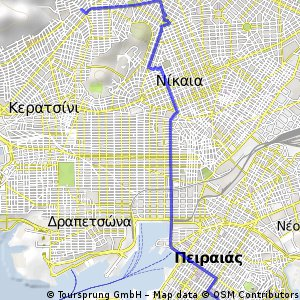 Cycling Routes And Bike Maps In And Around Keratsini Bikemap