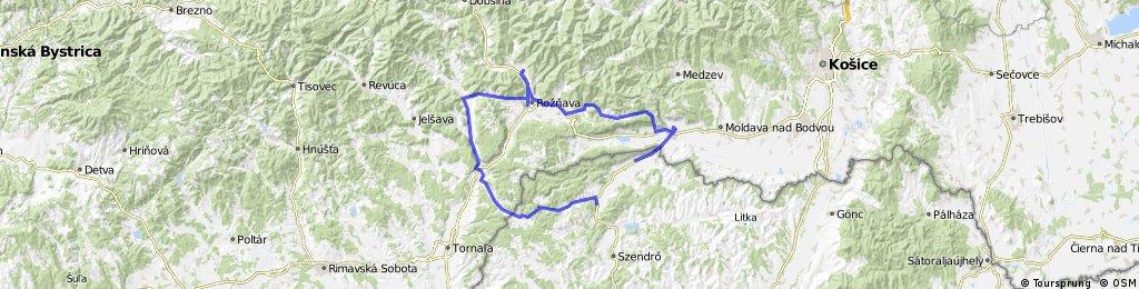 Torna-Szádelői völgy-Rozsnyó-Betlér-Csetnek-Aggtelek