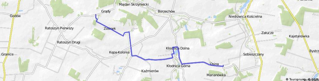 Szlak rowerowy (żółty) Gm. Borzechów