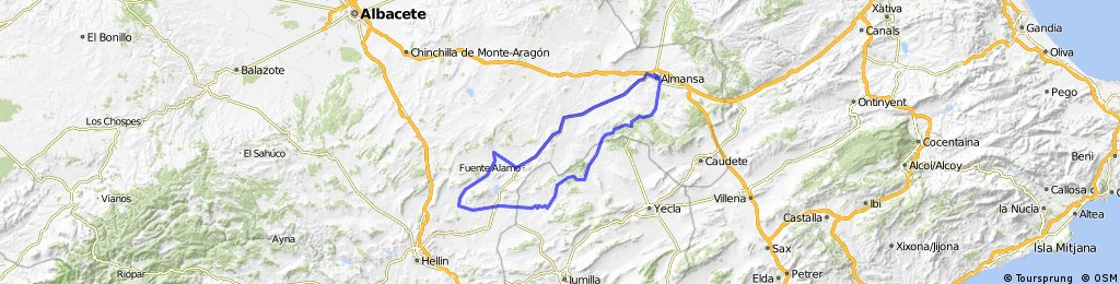 Almansa circular suroeste (variante carretera)