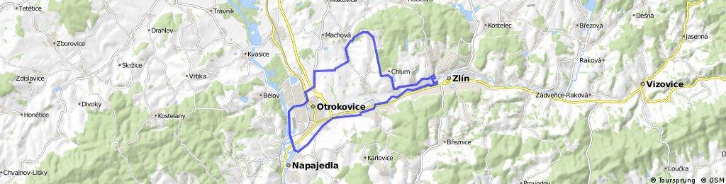 _CZE _ ZL - Napajedla - Otrokovice - Sazovice - Hostišová - Chlum - ZL