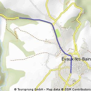 Cycling the Alps Cote d'Evaux-les Bains (0445m)