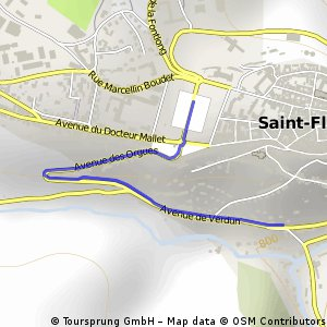 Cycling the Alps Saint-Flour (0882m)
