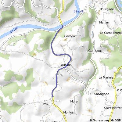 Cycling the Alps Cote de Loupiac (0326m)