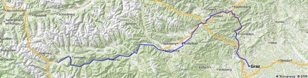 Mur-radweg: Mauterndorf - Graz