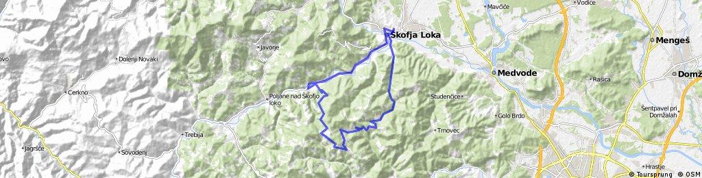 Loka - Črni vrh - Log - Loka