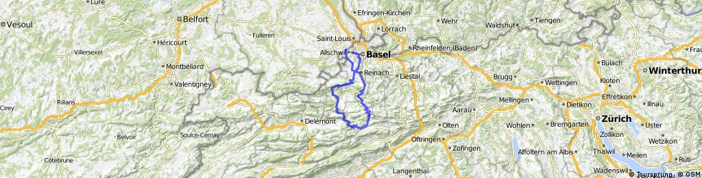 Blauen-Hohe Winde- Passwang- Nunningerberg