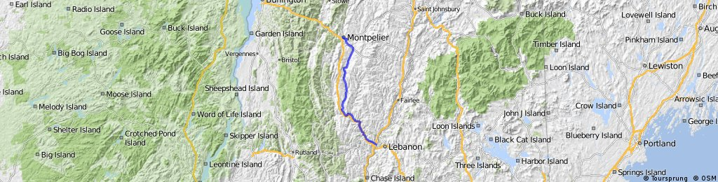 white river to montpelier