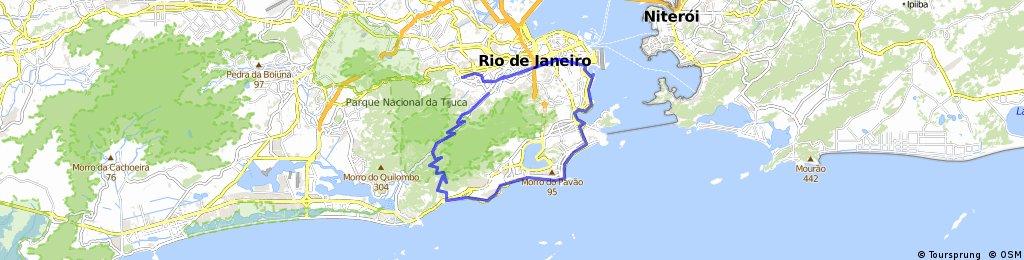 Tijuca --> São Conrado (via Alto da Boa Vista) --> Zona Sul --> Zona Norte