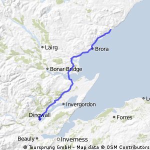 Day 13 Dingwall to Helmsdale