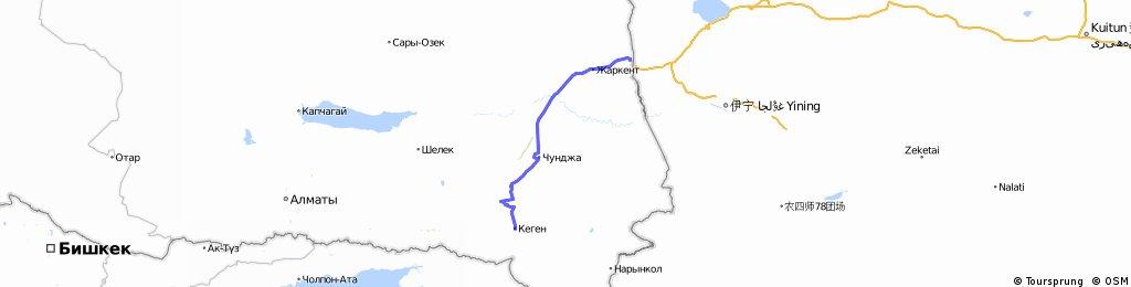 Kirgisien durch Kasachstan nach China