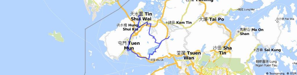 Tin Shui Wai - Tai Tong - Siu Lam - Tuen Mun - Tin Shui Wai