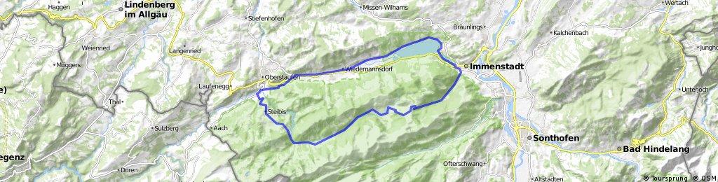 Rund um den Alpsee - Biketour 42 km-900 hm