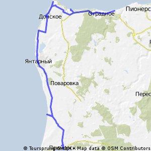 Приморск-Янтарный-мыс Таран-Приморье-Светлогорск