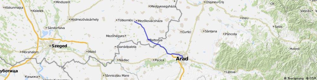 Arad - Mezokovacshaza