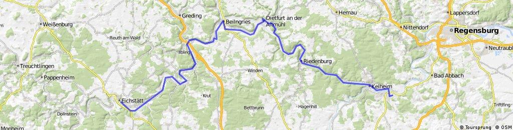 Altmühlradweg 4./5. Ettappe