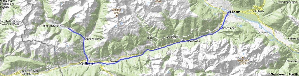 Innervillgraten-Sillian-Lienz (Drauradweg)
