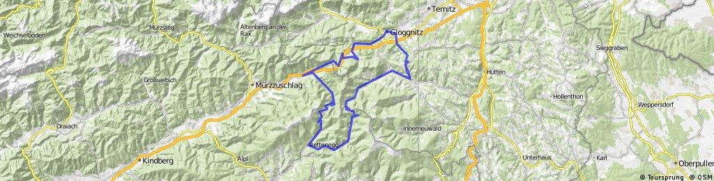 Gloggnitz - Semmering - Pfaffensattel - Feistritzsattel  - Ramssattel