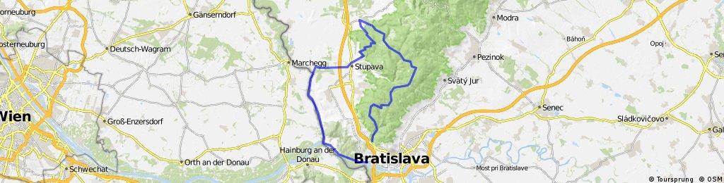 Kačín, Biely kríž, Košiarisko, Lozorno, Stupava, Devín
