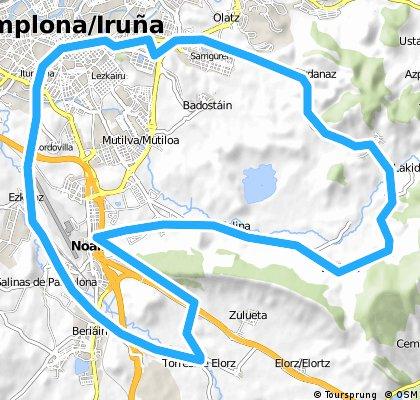 Vuelta al valle de aranguren y Pamplona sur