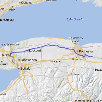 Macedon, NY to Niagara Falls, Canada