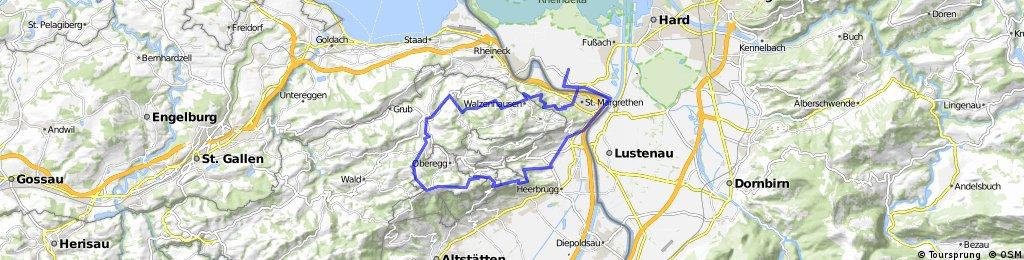 Höchst > Au > Berneck > St. Anton > Heiden > Walzenhausen > Höchst