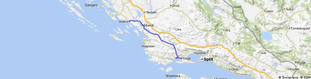 Vodice-Prapratnica-Trogir