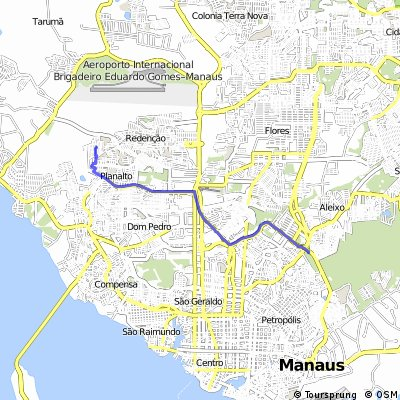 Cycling routes and bike maps in and around Manaus | Bikemap - Your ...
