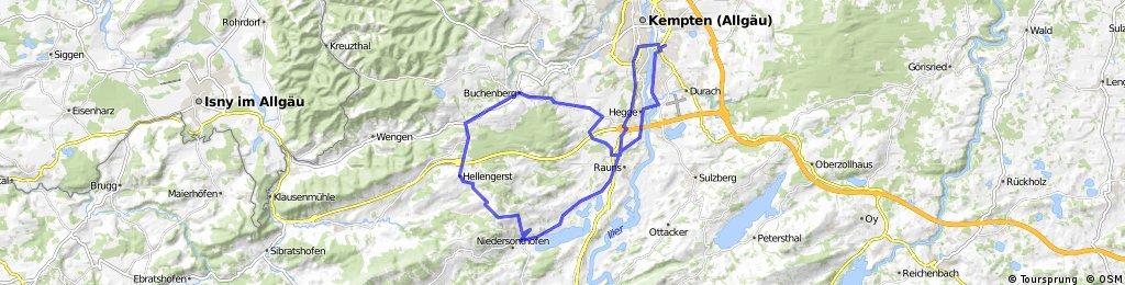 Buchenberg mit Blick zum Niedersonthofener See