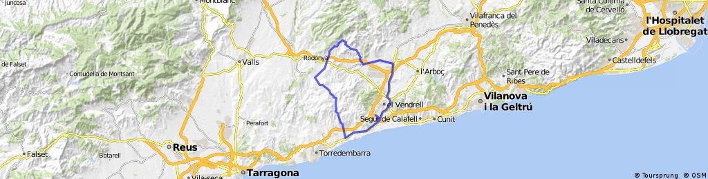 El Vendrell - Roda - Masllorenç - La Joncosa - Llorenç - El Vendrell