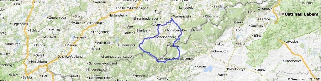 R - Schlettau - Preßnitztal - Jöhstadt - Medenec - Bozi Dar - R