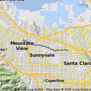 Mountain View Caltrain to Santa Clara