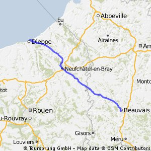 Legs 2 and 5 for le tour trip Diepe Beauvais CLONED FROM ROUTE 949688