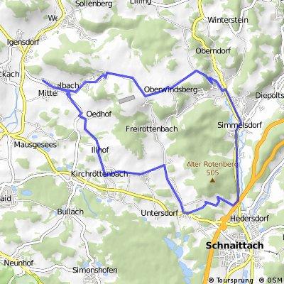 Kleine Hausrunde über Simmelsdorf